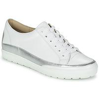 Schuhe Damen Sneaker Low Caprice BUSCETI Weiß / Silber