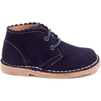 Chaussures Enfant Boots Boni & Sidonie Bottines en daim à lacet - BABE II Bleu Marine