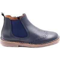 Chaussures Enfant Boots Boni & Sidonie Boots de style anglais en cuir à zip - MALO Bleu Marine