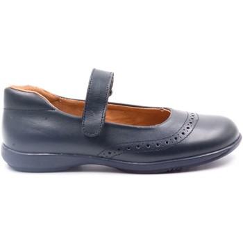 Chaussures Fille Ballerines / babies Boni & Sidonie Ballerine uniforme en cuir à scratch - BETTY II Bleu Marine