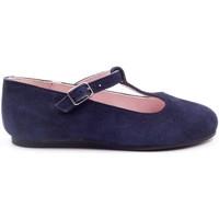 Chaussures Fille Ballerines / babies Boni & Sidonie Ballerine en daim à bride - SALOME II Daim Bleu Marine