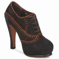 Schuhe Damen Ankle Boots Michel Perry ORCHID Schwarz / weiss