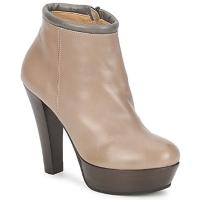 Schuhe Damen Ankle Boots Keyté POULOI Maulwurf