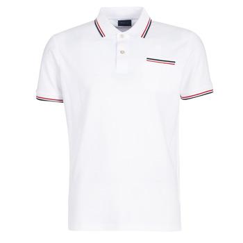 Kleidung Herren Polohemden Gant COL TIPPING PIQUE Weiss