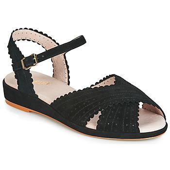 Chaussures Femme Sandales et Nu-pieds Miss L'Fire BRIGITTE Noir
