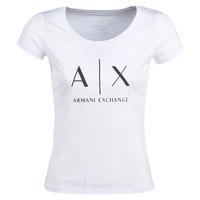 Abbigliamento Donna T-shirt maniche corte Armani Exchange HELIAK Bianco