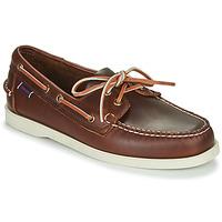 Schuhe Herren Bootsschuhe Sebago DOCKSIDES PORTLAND WAXED Braun,