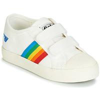 Scarpe Unisex bambino Sneakers basse Gola COASTER RAINBOW VELCRO Bianco