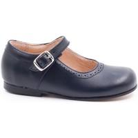 Chaussures Fille Ballerines / babies Boni & Sidonie Babies en cuir à boucles - MINI AGATHE Bleu Marine