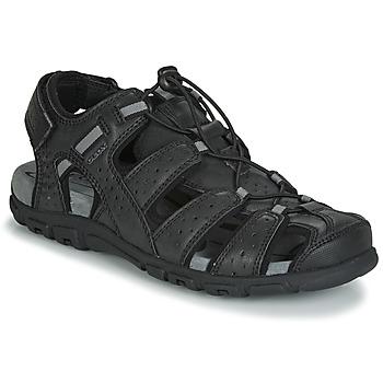 Chaussures Homme Sandales sport Geox UOMO SANDAL STRADA Noir