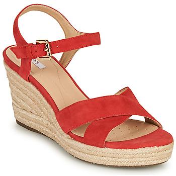 Schuhe Damen Sandalen / Sandaletten Geox D SOLEIL Rot / Koralle