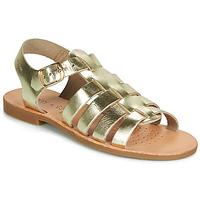 Schuhe Mädchen Sandalen / Sandaletten Geox J SANDAL VIOLETTE GI Golden