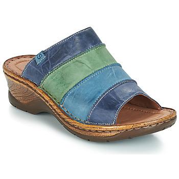 Schuhe Damen Pantoffel Josef Seibel CATALONIA 64 Blau