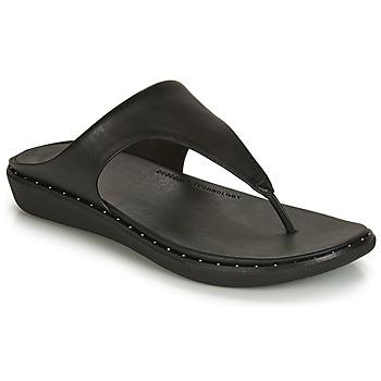 Schuhe Damen Zehensandalen FitFlop BANDA II Schwarz