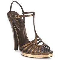 Schuhe Damen Sandalen / Sandaletten Roberto Cavalli QDS627-PM027 Bronze