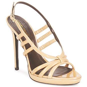 Schuhe Damen Sandalen / Sandaletten Roberto Cavalli QDS626-PL028 Beige