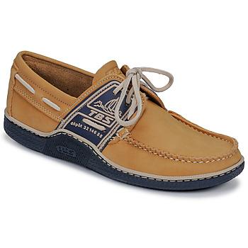 Schuhe Herren Bootsschuhe TBS GLOBEK Gelb / Marineblau