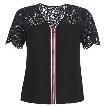 Kleidung Damen Tops / Blusen Morgan OSALI Schwarz