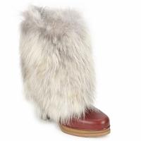 Schuhe Damen Low Boots D&G DS3553 Braun / Beige