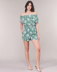 Vêtements Femme Combinaisons / Salopettes See U Soon GARAGABE Vert / Blanc