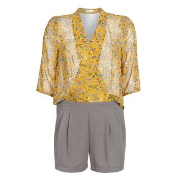 Abbigliamento Donna Tuta jumpsuit / Salopette See U Soon GARAGALE Giallo / Kaki