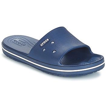 Schuhe Pantoletten Crocs CROCBAND III SLIDE Marine / Weiss