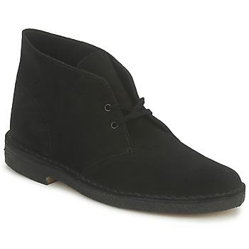 Schuhe Herren Boots Clarks DESERT BOOT Schwarz