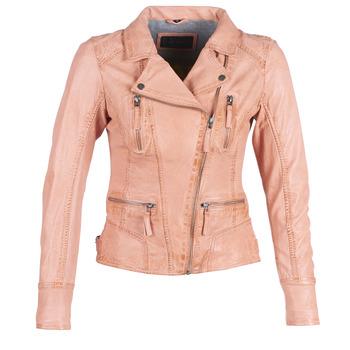 Kleidung Damen Lederjacken / Kunstlederjacken Oakwood CAMERA Pfirsisch