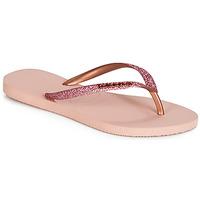 Chaussures Femme Tongs Havaianas SLIM GLITTER Rose