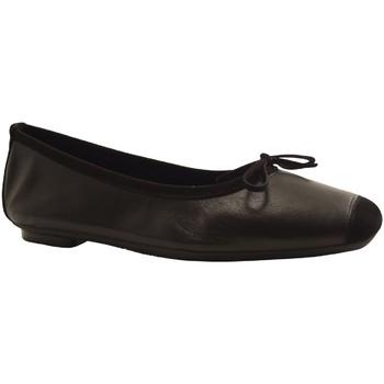 Chaussures Femme Ballerines / babies Reqin's HARMONY CUIR PEAU LIS NOIR
