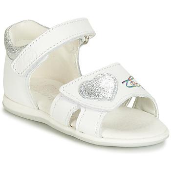 Schuhe Mädchen Sandalen / Sandaletten Citrouille et Compagnie JAFALGA Weiß
