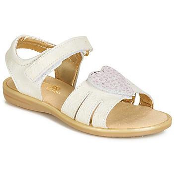 Schuhe Mädchen Sandalen / Sandaletten Citrouille et Compagnie JAFILOUTE Weiß