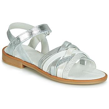 Schuhe Mädchen Sandalen / Sandaletten Citrouille et Compagnie JARILOU Silbrig