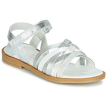 Schuhe Mädchen Sandalen / Sandaletten Citrouille et Compagnie JARILOU Silbern