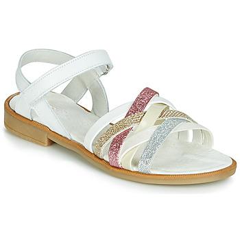 Schuhe Mädchen Sandalen / Sandaletten Citrouille et Compagnie JARILOU Weiß