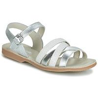 Schuhe Mädchen Sandalen / Sandaletten Citrouille et Compagnie JAGUINOIX Grau / Silbrig