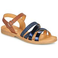 Schuhe Mädchen Sandalen / Sandaletten Citrouille et Compagnie JOLICOTE Marineblau / Kamel