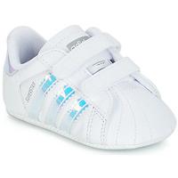 Chaussures Fille Baskets basses adidas Originals SUPERSTAR CRIB Blanc
