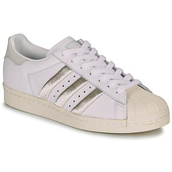 Chaussures Femme Baskets basses adidas Originals SUPERSTAR 80s W Blanc / Beige