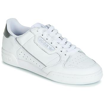Schuhe Damen Sneaker Low adidas Originals CONTINENTAL 80s Weiss / Silbern