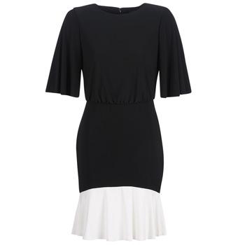 Abbigliamento Donna Abiti corti Lauren Ralph Lauren ELBOW SLEEVE DAY DRESS Nero / Bianco