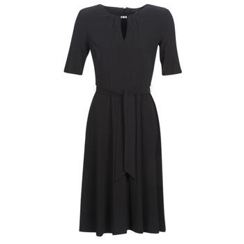Abbigliamento Donna Abiti corti Lauren Ralph Lauren 3/4 SLEEVE  JERSEY DAY DRESS Nero
