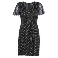 Abbigliamento Donna Abiti corti Lauren Ralph Lauren POLKA DOT-SHORT SLEEVE-DAY DRESS Nero