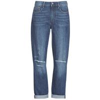 Vêtements Femme Jeans boyfriend G-Star Raw 3302 SADDLE MID BOYFRIEND Bleu Medium Aged Ripped