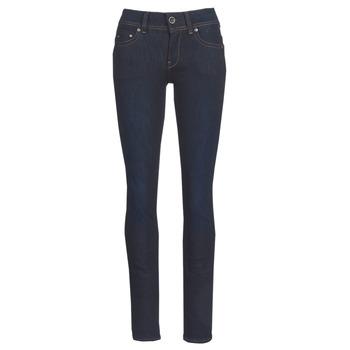 Kleidung Damen Straight Leg Jeans G-Star Raw MIDGE SADDLE MID STRAIGHT Blau / Dark