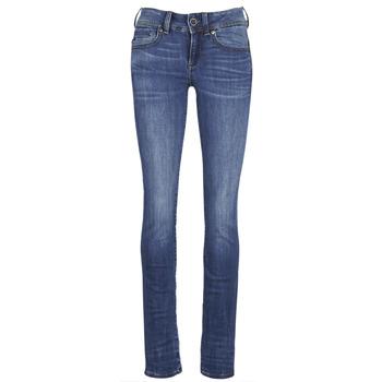 Vêtements Femme Jeans droit G-Star Raw MIDGE SADDLE MID STRAIGHT Bleu Medium Indigo Aged