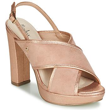 Schuhe Damen Sandalen / Sandaletten Menbur VILLALBA Rose / Gold