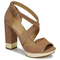 Schuhe Damen Sandalen / Sandaletten MICHAEL Michael Kors VALERIE PLATFORM Kamel