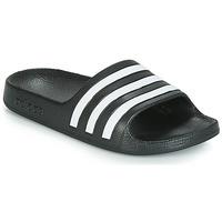 Schuhe Kinder Pantoletten adidas Performance ADILETTE AQUA K Weiß