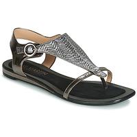 Chaussures Femme Sandales et Nu-pieds JB Martin ARMOR Noir / Argenté